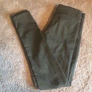 Army green stretchy jean